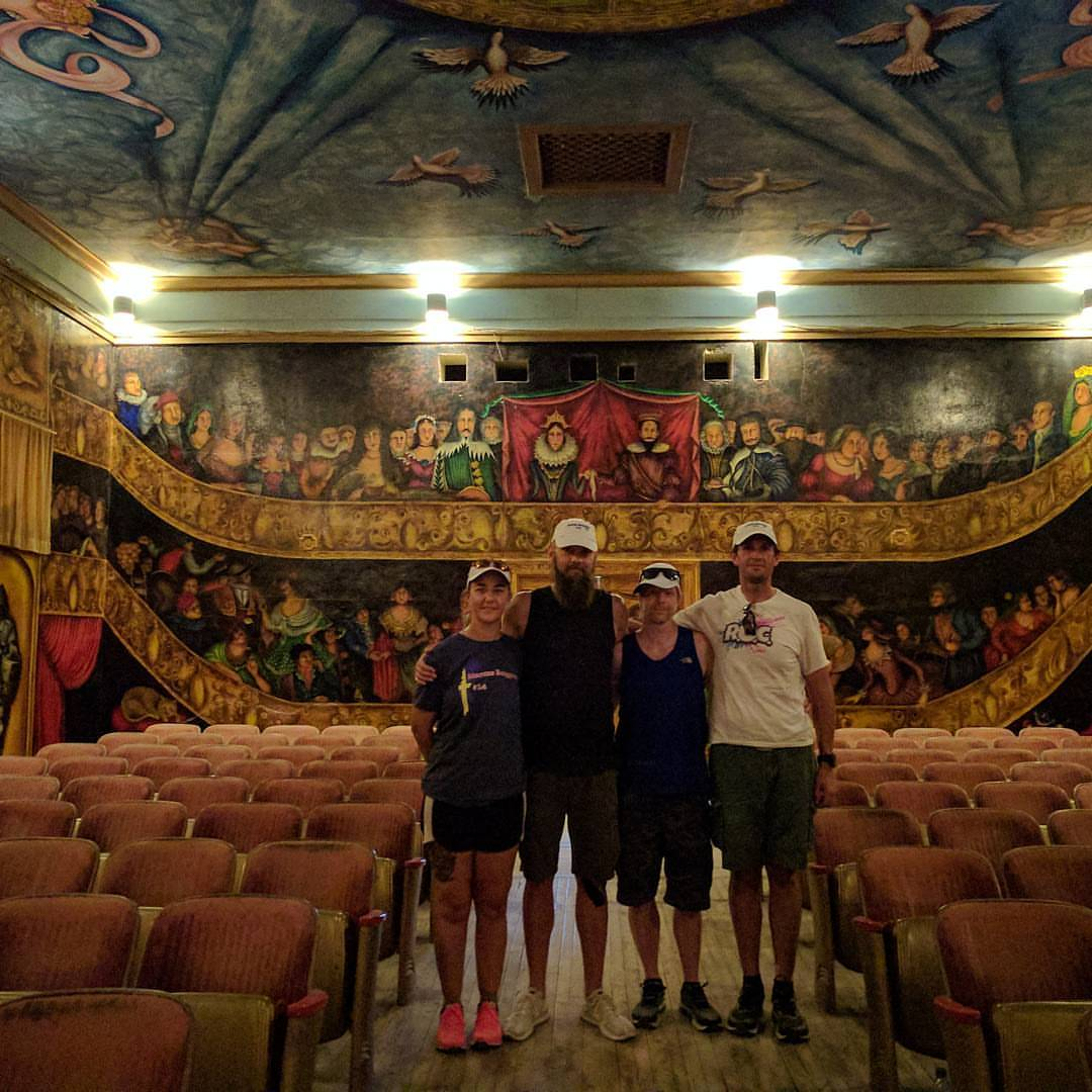 Team taking the tour at Amargosa Opera House before the race